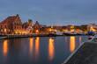Hafen in Wismar am Abend, Mecklenburg-Vorpommern
