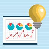 idea statistics designs icon vector illustration eps 10