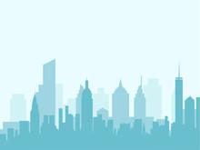 City skyline vektorové ilustrace.