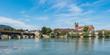 Holzbrücke Bad Säckingen mit Fridolinsmünster