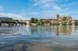 Bad Säckingen mit Holzbrücke am Rhein
