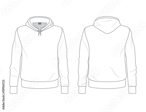 Men S Hoo Template Front And Back View