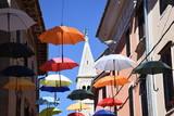 Novigrad, Stadt, Gasse, Schirm, Schirme, verwinkelt, eng, historisch