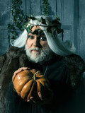 Man in costume of wizard