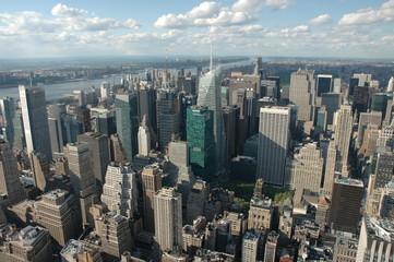 Schauen und genießen. Eintauchen in das Häusermeer. Blick vom Empire State Building.