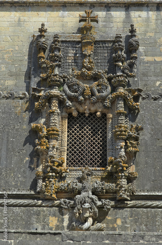The Chapter House Window was executed by Diogo de Arruda in Tomar, Portugal, in 1510-1513 Poster