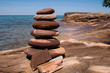 Rock cairn near Au Sable Point at Pictured Rocks National Lakeshore