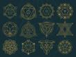 Abstract Sacred Geometry and Magic Symbols Set 1