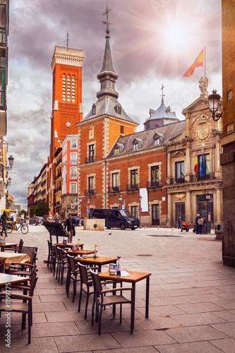 Old square in Madrid. Spain
