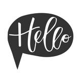 Hello hand written inscription - 119979126