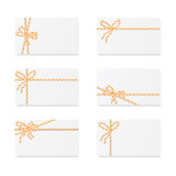 Card notes with gift bows - 119979359