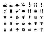 Fototapety Restaurant vector icons