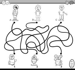 path maze coloring page