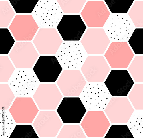 Hexagon Seamless Pattern - 119986301