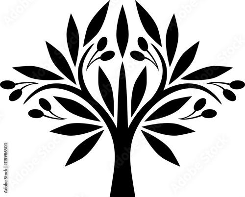 Simple olive tree