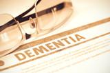 Diagnosis - Dementia. Medical Concept. 3D Illustration.