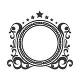 victorian vintage elegant border frame ornament vector illustration