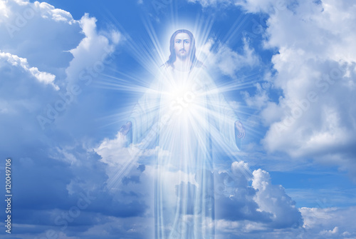 Poster Jesus Christ in Heaven religion concept