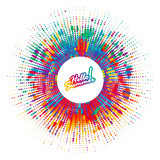 Abstract color splash, spray background, banner. - 120069174