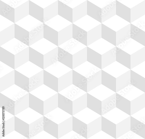 3d cubes tricolor geometric background - Seamlessly repeatable - 120075789
