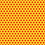Czerwone kropki na żółtym tle