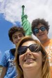 Happy family selfie in Newyork