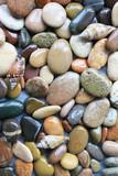 Разноцветные морские камни.