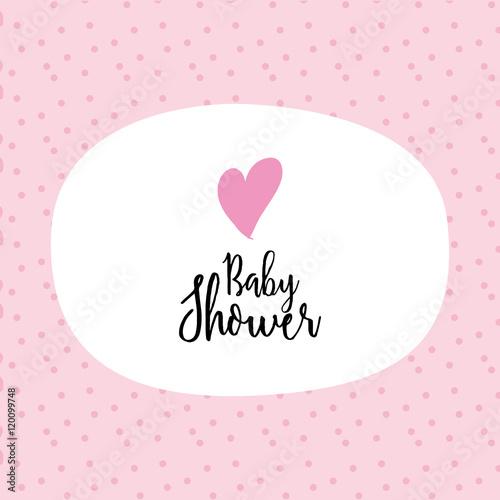 In de dag Retro sign Baby Shower card