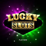 Lucky Slots banner. Slot machine online casino advertising