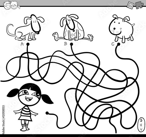 path maze coloring activity