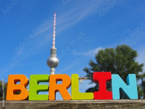 Naklejka Berlin Buchstaben: Fernsehturm am Alexanderplatz