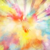Pop-art colourful burst - 120132185