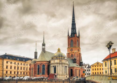 Poster Riddarholm Church (Riddarholm Kyrka) In Stockholm, Sweden