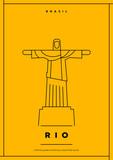 Minimal Rio City Poster Design - 120158959