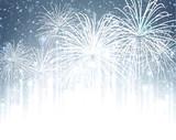 Fototapety Festive xmas firework background.