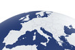 Europe map Earth globe