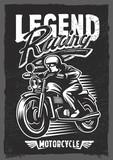motorbike t-shirt graphic