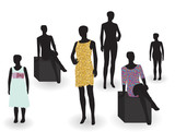 Beauty and fashion. Mannequin in clothes  without. Vector Ill