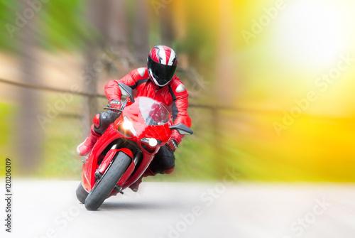 Dynamic motorbike racing Canvas