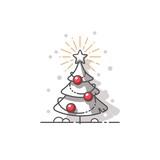 Christmas tree. Vector illustration.