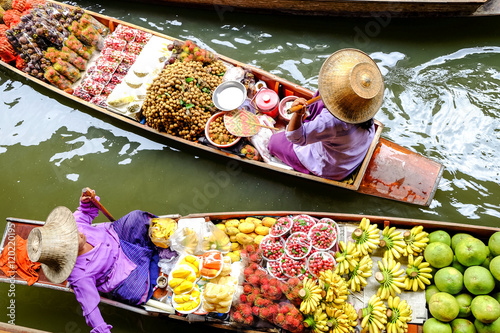Damnoen Saduak floating market, The famous attractions of Ratchaburi Poster