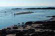 sandbar in low tide in Ogunquit, Maine