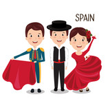 group spain music dance design vector illustration eps 10