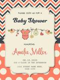 Beautiful baby girl shower card