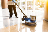people polishes floor indoors - 120234977