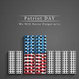 Illustration of U.S.A Flag for Patriot Day - 120235737