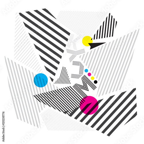 cmyk abstract background, print color © chompunuth