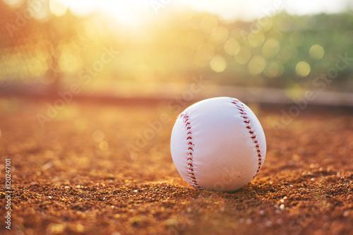 Baseball on pitchers mound  Poster