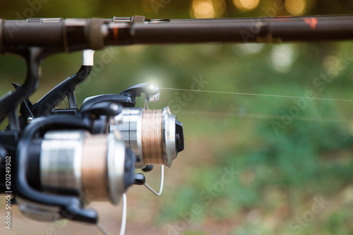 Fishing reels and rods. Poster