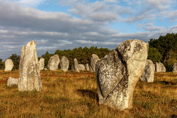 The alignments of Carnac, stone age, France